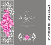 wedding card or invitation with ... | Shutterstock .eps vector #245968126
