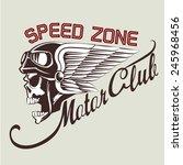 motor skull crest graphic.  ... | Shutterstock .eps vector #245968456