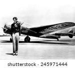 amelia earhart standing in... | Shutterstock . vector #245971444