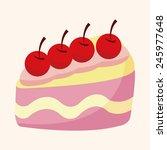 cartoon cake   Shutterstock .eps vector #245977648