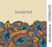 decorative element border | Shutterstock .eps vector #245981359