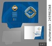 blue folder template design for ... | Shutterstock .eps vector #245981368