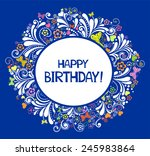 happy birthday card.... | Shutterstock .eps vector #245983864