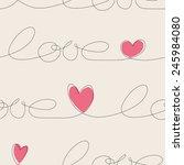 hearts seamless pattern   Shutterstock .eps vector #245984080