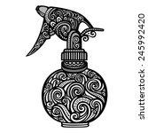 vector ornate pulverizer....   Shutterstock .eps vector #245992420