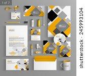 white corporate identity... | Shutterstock .eps vector #245993104