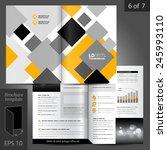 white brochure template design... | Shutterstock .eps vector #245993110