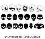 skulls set | Shutterstock .eps vector #246008536