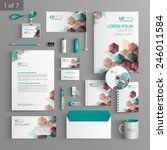 white corporate identity... | Shutterstock .eps vector #246011584