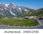curved road in rossglockner... | Shutterstock . vector #246012550