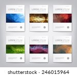 set of modern abstract brochure ... | Shutterstock .eps vector #246015964