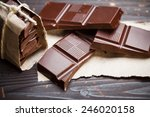 Pieces Of Chocolate With...