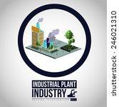 industry design over white... | Shutterstock .eps vector #246021310