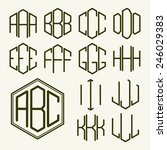 set 1 template letters to... | Shutterstock .eps vector #246029383