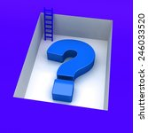 question mark 3d with downstairs | Shutterstock . vector #246033520