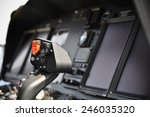 the pilots' control panel... | Shutterstock . vector #246035320