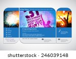 website template with music... | Shutterstock .eps vector #246039148