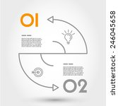 double arc infographic concept. ... | Shutterstock .eps vector #246045658