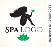 logo for spa or beauty salon.... | Shutterstock .eps vector #246047053