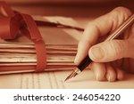 antique style vintage hand... | Shutterstock . vector #246054220