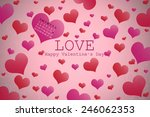 valentine's day background with ...   Shutterstock . vector #246062353