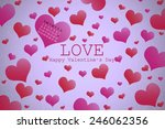valentine's day background with ...   Shutterstock . vector #246062356
