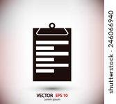 notebook icon | Shutterstock .eps vector #246066940