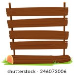 illustration of wooden signs on ... | Shutterstock .eps vector #246073006