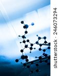 science molecule dna model... | Shutterstock . vector #246073294