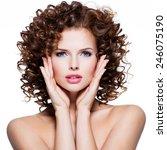 beautiful young sensual woman... | Shutterstock . vector #246075190