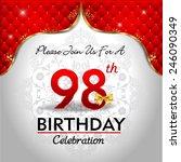 celebrating 98 years birthday ...   Shutterstock .eps vector #246090349