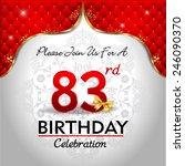 celebrating 83 years birthday ...   Shutterstock .eps vector #246090370