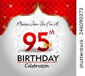 celebrating 95 years birthday ... | Shutterstock .eps vector #246090373