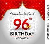 celebrating 96 years birthday ... | Shutterstock .eps vector #246090376