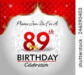 celebrating 89 years birthday ...   Shutterstock .eps vector #246090403