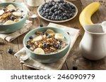organic breakfast quinoa with... | Shutterstock . vector #246090979