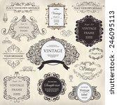 vector set  calligraphic design ... | Shutterstock .eps vector #246095113