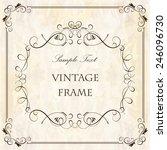 elegant vintage frame with... | Shutterstock .eps vector #246096730