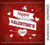 valetine day love vector... | Shutterstock .eps vector #246096820