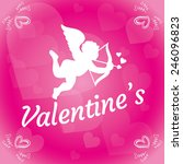 valentine day  love vector... | Shutterstock .eps vector #246096823