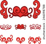 set of abstract heart symbols | Shutterstock .eps vector #246098788