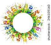 confetti and serpentine... | Shutterstock .eps vector #246105160
