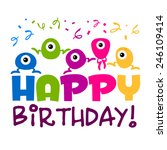 birthday greeting card with... | Shutterstock .eps vector #246109414