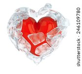 the shining red glossy heart... | Shutterstock . vector #246109780