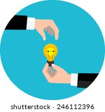 business deal with new idea.... | Shutterstock .eps vector #246112396