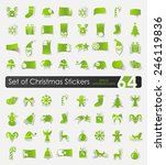 set of christmas stickers | Shutterstock .eps vector #246119836