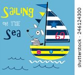 sailing on the sea with sailor... | Shutterstock .eps vector #246124300