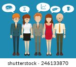 business minded people with... | Shutterstock .eps vector #246133870