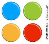 4 colored magnets | Shutterstock . vector #246138604