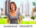 young cool woman smiling | Shutterstock . vector #246144670